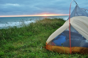 Camping on the Oregon Coast.