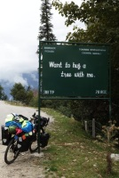 One of hundreds of funny signs all over the Himalayas, India 2013.
