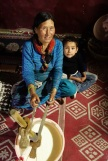 Making ghee (butter) with a grandma, India 2013.