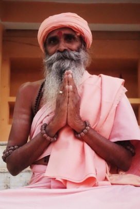 A friendly babaji, India 2013.