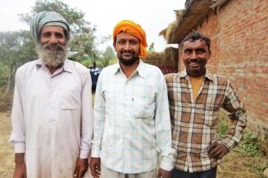 Friendly Sikh men near Amritsar.