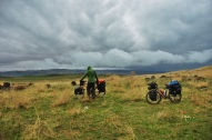 Cycling into the storm, Turkey 2014.