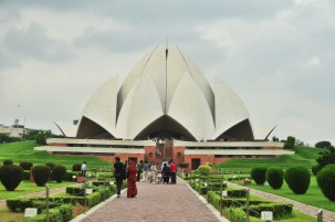 The Baha'i temple in Delhi, India 2013.