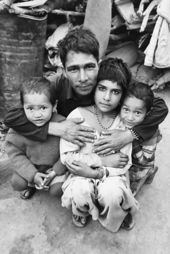 A family in a slum who took me in when I was tea doing alone, India 2013.
