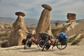 Our bikes enjoying Cappadocia, Turkey 2014.