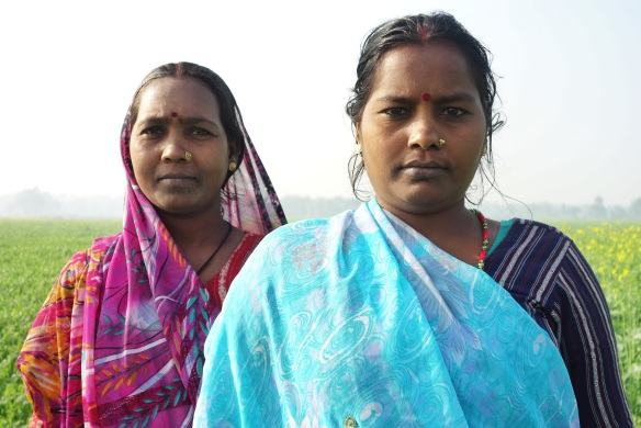 Two Nepali women on the flats.
