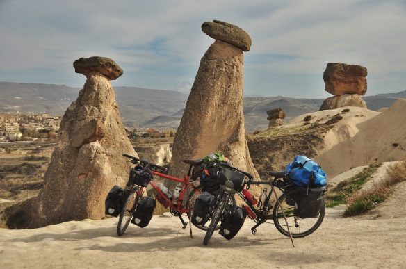 Our bikes at Cappadocia.