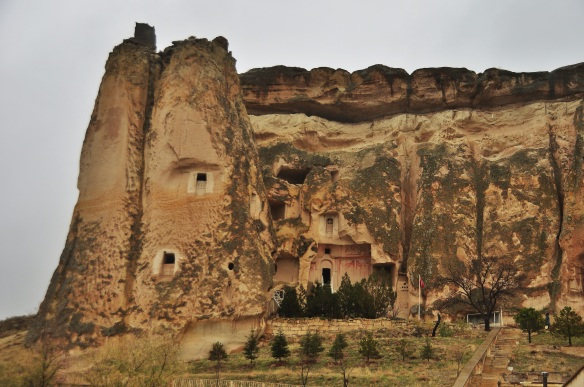 Cappadocia is famous for its caves and funny rock formations.