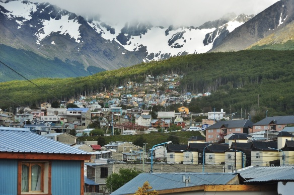 The town of Ushuaia.