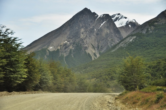 A dirt road leading to a mountain. What more could a girl want?
