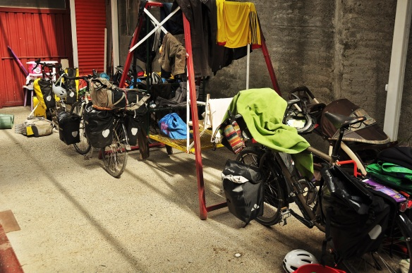 It is not often that you walk into a room full of bicycles like your own!