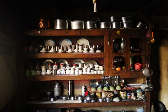 Many of the homes had an impressive collection of dishes, most of which were passed down for generations.
