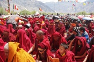 We were lucky enough to hear the Dalai Lama speak twice, once in a small village in Zanskar, and again at a very important Tibetan Buddhist ritual where 200,000 people gathered.