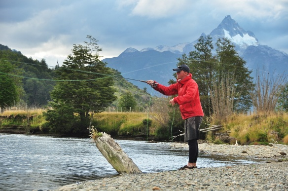 Fly fishing in Patagonia, Kevin has already dreamed of this!