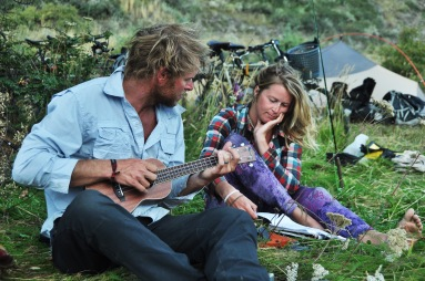 Mike and Emily showing off their hippie side!