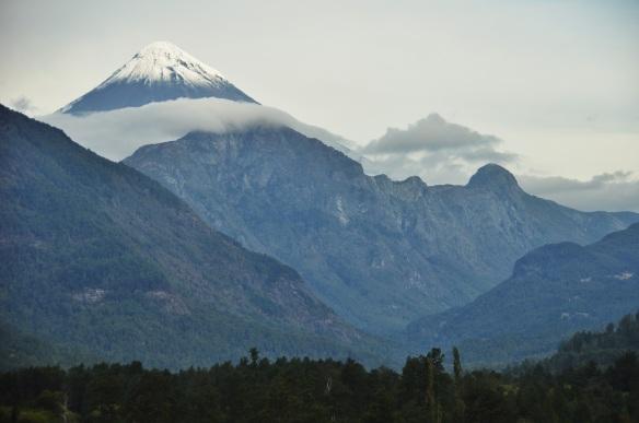 A beautiful volcano right at the border.