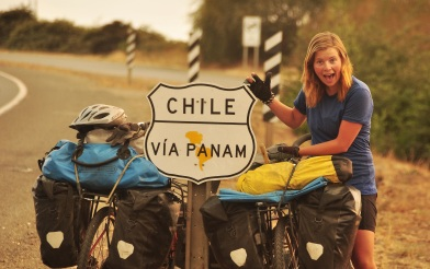 Hanging out along the highway, Chile 2015.
