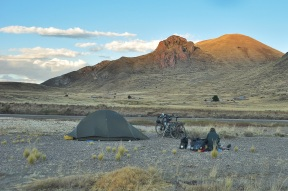 Though it was populated and people saw us camping, no one bothered us at all. Once again, I felt safer camping here in the open than I would in the USA.