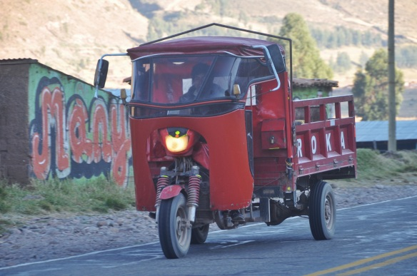 Though there weren't any tuktuks in Bolivia, the second we crossed into Peru we saw them all over.