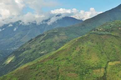 Typical green hills which make up this region.