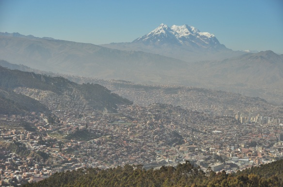 A small fraction of the large sprawling city of La Paz.