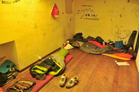 Though we got our own room - the advantage of being a couple - most people slept on the floor wherever.