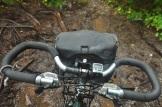 Cycling through the mud.